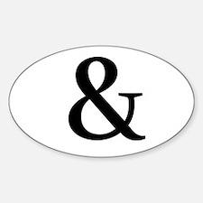 Black Ampersand Decal