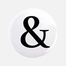 """Black Ampersand 3.5"""" Button"""