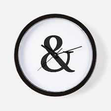 Black Ampersand Wall Clock