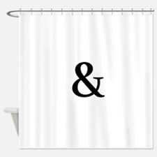 Black Ampersand Shower Curtain