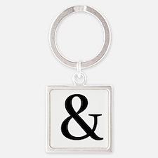 Black Ampersand Keychains