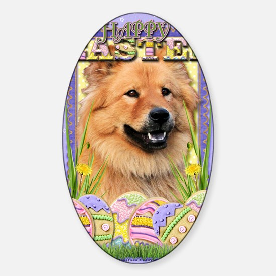 EasterEggCookiesChowChow Sticker (Oval)