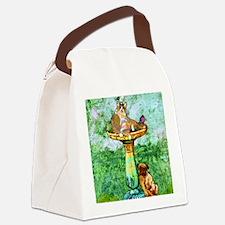 fatCatPuzzle Canvas Lunch Bag