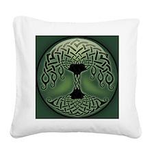 celtic-tree-BUT Square Canvas Pillow