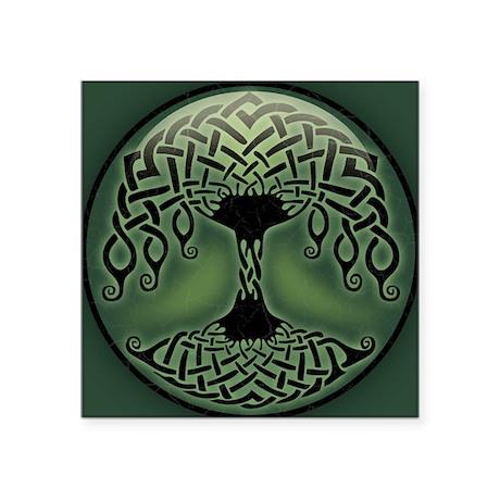 "celtic-tree-BUT Square Sticker 3"" x 3"""