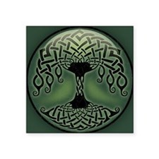 "celtic-tree-BUT Square Sticker 3"" x 3"""