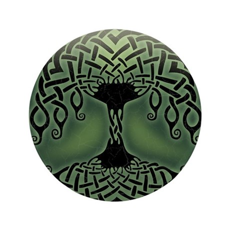 """celtic-tree-BUT 3.5"""" Button"""