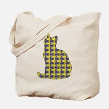 Shorthair With Fishes Tote Bag