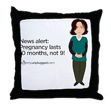 10mos Throw Pillow