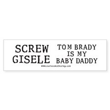 Tom Brady Baby Daddy Bumper Car Sticker