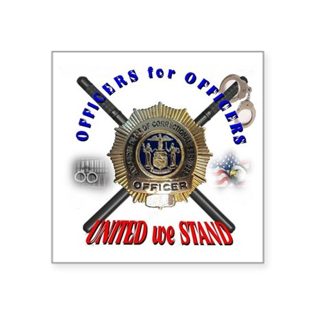 """OFFICERS FOR OFFICERS11 Square Sticker 3"""" x 3"""""""