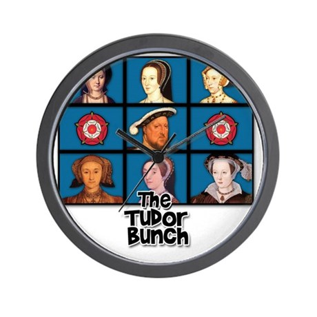 tudor bunch FINAL 2 Wall Clock