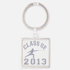 Class Of 2013 Fencing - Grey 2 Square Keychain