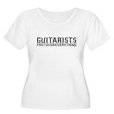 Guitarists Fret Plus Size T-Shirt