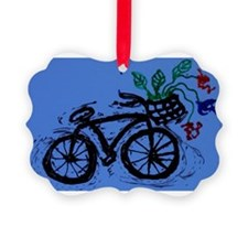 abstract bike with flowers Ornament