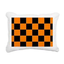 coinpurseorangecheckerbo Rectangular Canvas Pillow