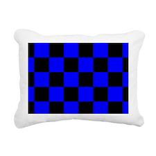 coinpursebluecheckerboar Rectangular Canvas Pillow