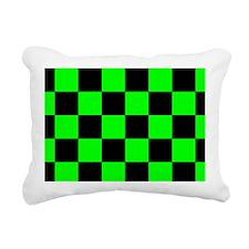 coinpursegrncheckerboard Rectangular Canvas Pillow
