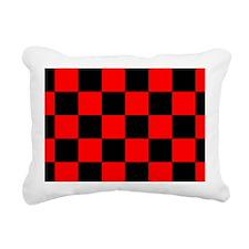 coinpurseredcheckerboard Rectangular Canvas Pillow