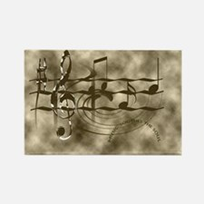Cute Music notes Rectangle Magnet (100 pack)