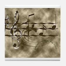 Cute Musician Tile Coaster