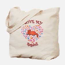 Love My Blue Tote Bag