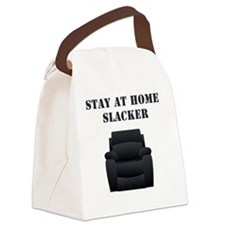 Stay at home slacker Canvas Lunch Bag