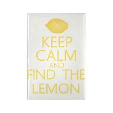 find the lemon Rectangle Magnet