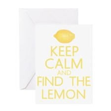 find the lemon Greeting Card