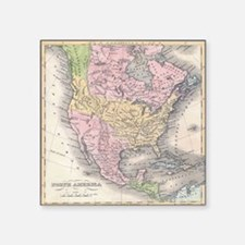 "MapNorthAmerica7100 Square Sticker 3"" x 3"""