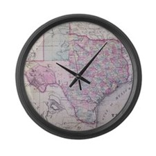 MapTexas7100 Large Wall Clock
