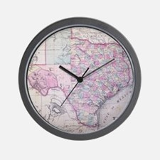 MapTexas7100 Wall Clock