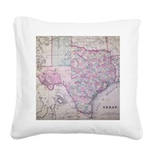 MapTexas7100 Square Canvas Pillow