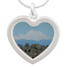 Mount Baker Silver Heart Necklace