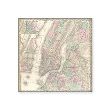 "MapNewYork7100 Square Sticker 3"" x 3"""