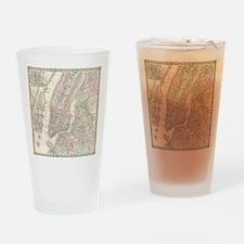 MapNewYork7100 Drinking Glass