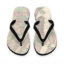 MapNewYork7100 Flip Flops