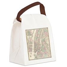 MapNewYork7100 Canvas Lunch Bag