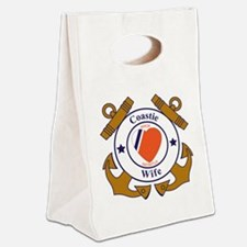 USCG SND 3 Wife Outlines Canvas Lunch Tote