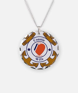 USCG SND 3 Wife Outlines Necklace