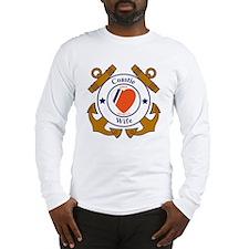 USCG SND 3 Wife Outlines Long Sleeve T-Shirt