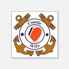 """USCG SND 3 Wife Outlines Square Sticker 3"""" x 3"""""""