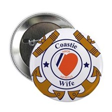 """USCG SND 3 Wife Outlines 2.25"""" Button"""