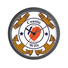 USCG SND 3 Wife Outlines Wall Clock
