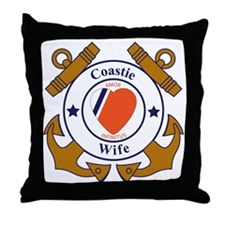 USCG SND 3 Wife Outlines Throw Pillow
