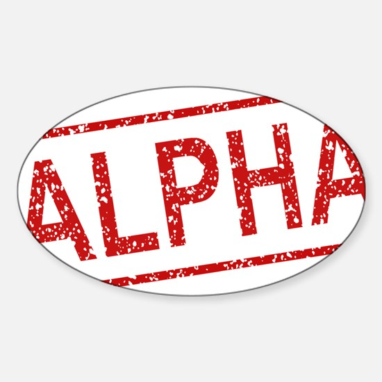 ss-alpha Sticker (Oval)