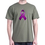 Purple Awareness Ribbon Dark T-Shirt