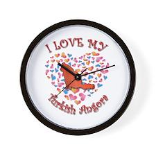 Love My Angora Wall Clock