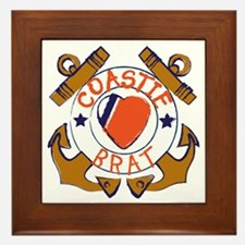 USCG SND 3a Brat Outlines Framed Tile