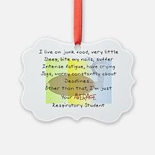 Respiratory student Average Ornament